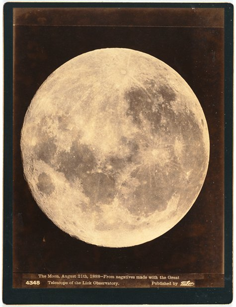 orchardes:  cocoroachchanel: Taber Studio, Isaiah West Taber, The Moon, August 21st, 1888—From negatives made with the Great…, 1888