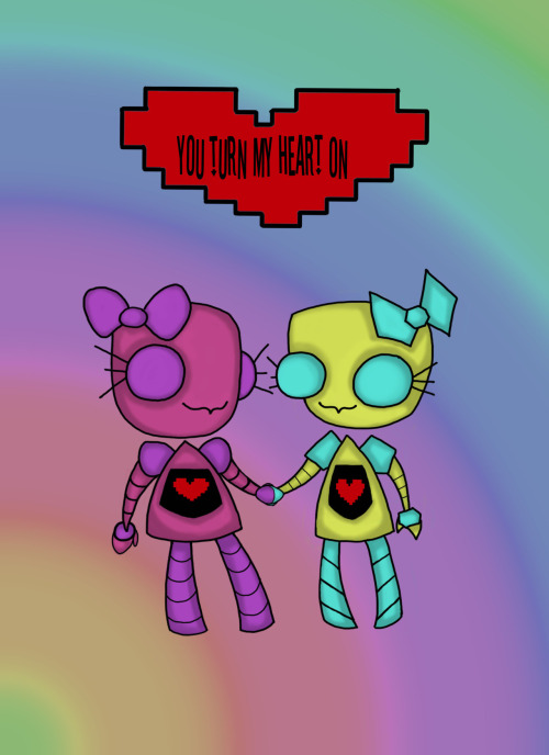conceptartai:Robot Love 2 My Art By: Brittany Gould