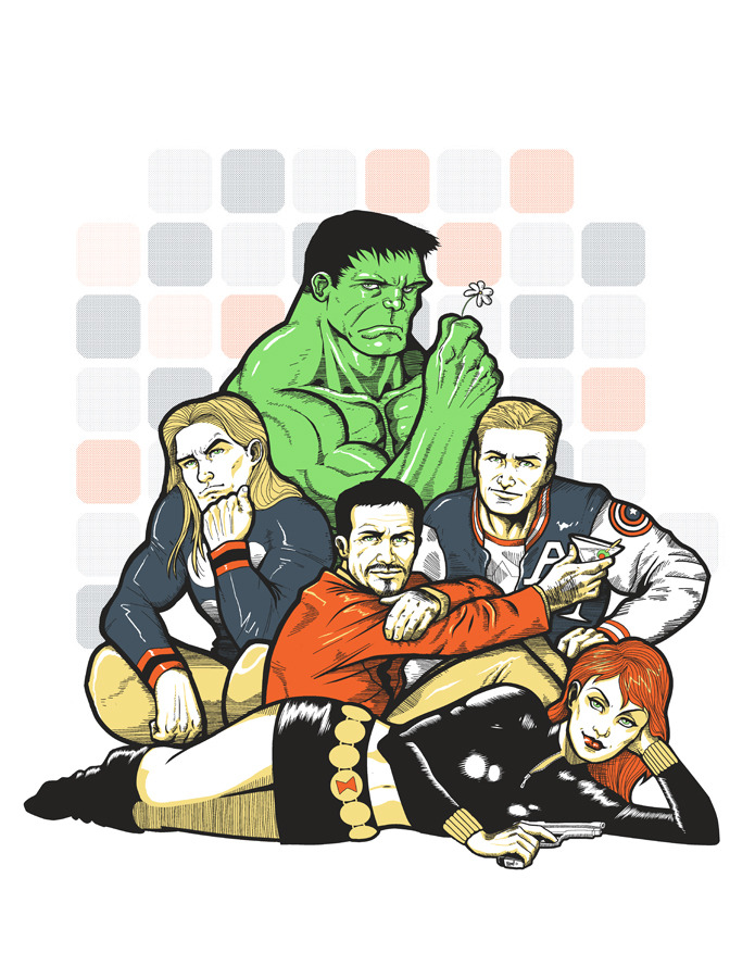 The Avengers Club by Timothy Lim (via Tim's tumblr: ninjaink)