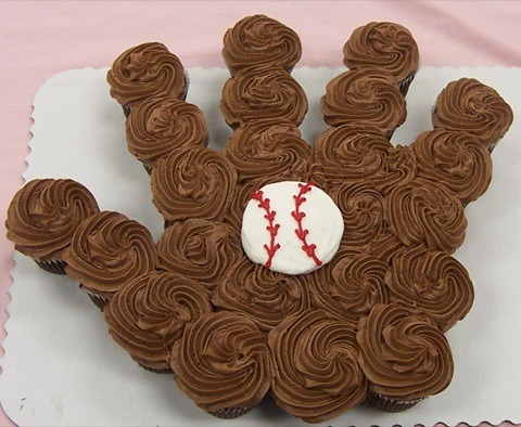 "Perfect ""cake"" for a sports' fanatic - young or old. At cafemom."