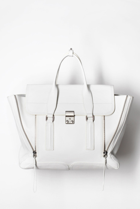 glamour:  Phillip Lim's perfect white bag.
