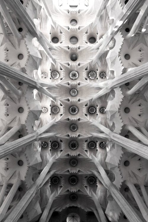 konstruk-abstrak:  Vaults from Sagrada Familia by Antonio Gaudi