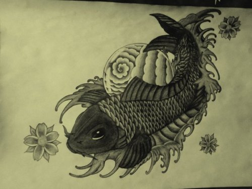 damn, I was good back in the days :D I think I should start drawing again Koi Fish by ~Youstice