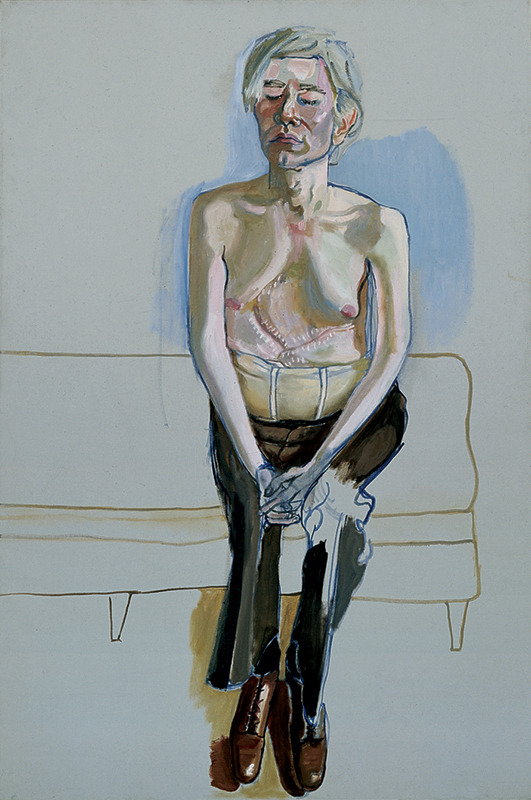 Alice Neel, Portrait of Andy Warhol