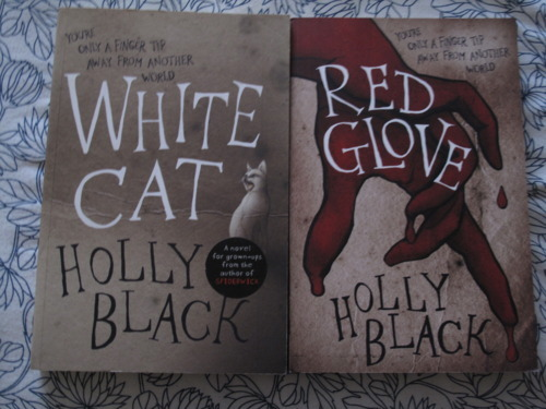 Holly Black White Cat White Cat Amp Red Glove by Holly