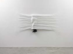 Sheet by Daniel Arsham (2007) EPS, Plaster, Paint, Fabric, Rubber: 45.25 in x 8.10 ft x 6 in