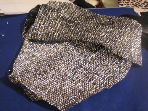 new clutch fabric, vintage silver metallic!