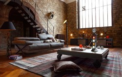 myidealhome:  industrial inspired comfort (via HomeDSGN)