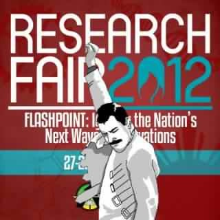 "Congratulations to UP ALCHEMES for successfully holding Research Fair 2012, the biggest high school science research fair in the country! RF 2012 with the theme ""Flashpoint: Igniting the Nation's Next Wave of Innovations"" received immense participation with more than 420 participants coming from 38 participating high schools from all over the country. It was a two-day event composed of the exhibit presentations, closed-door defense, workshops for both students and advisers, and the final presentation of the Top 5 teams. It also featured performances from the UP Streetdance Club, UP Concert Chorus, UP Repertory Company, and UP ALCHEMES' own creative groups. Out of 127 research entries from all over the country, these five research projects emerged to the top: 4th Runner-UpPlatelet Augmentation by Gotu Kola (Centella asiatica) Leaf Extract in White Miceby Wendy B. Baga, Lovely Therese C. Coronel, and Aleli N. Gayadaoof Doña Hortencia Salas Benedicto National High School.3rd Runner-UpProduction of Arthrospira platensis Algae (Spirulina) under LED Lightsby Williard Joshua D. Joseof Philippine Science High School - Main Campus.2nd Runner-UpDesign and Construction of Soil Liquid Limit Apparatus Applied With Fluid Dynamics Principles and Shear Strength Modelby Shaira A. Cariño, Nikki Joy E. Galindes, and Jayson Sime D. Jeremiasof Philippine Science High School - Bicol Region Campus.1st Runner-UpFTRI Touchscreen Blackboardby Jose Sarahnel Isaguirre, James Edward Fernandez, and Ron Jason Aboritaof Pasig City Science Champion Anti-Angiogenic Property of Gmelina arborea Methanolic Crude Extracts Using Duck Chorioallantoic Membrane (CAM) Assay  by Lizette S. Mella and Kendra Ivana S. Sy of Philippine Science High School - Bicol Region Campus. Thank you to all those who participated and contributed to the ignition of RF 2012!"
