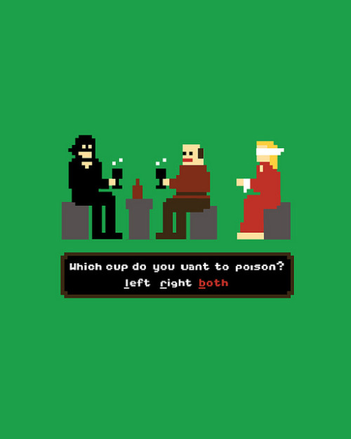 Truly, you have a dizzying intellect. 8-bit Princess Bride illustration by Nathan W. Pyle :: via nathanwpyle.blogspot.com
