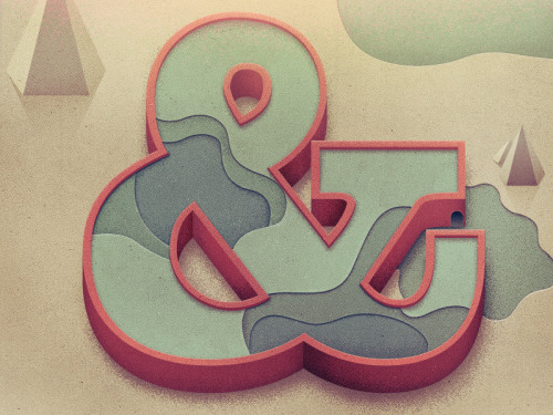Another beautiful ampersand, in a different style, this time from talented Justin Mezzell