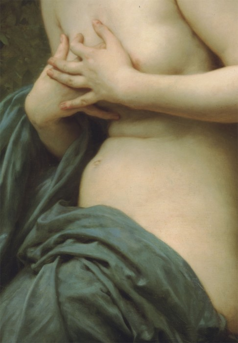 wasbella102:  Spring Breeze, Detail, Bouguereau