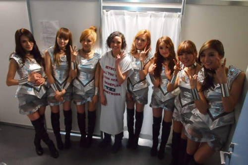 After School (w/o Uie) with Kagami Seira @ Japan Girls' Award Backstage