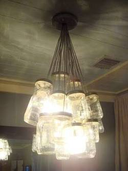 DIY Mason Jar Chandelier via Instructables