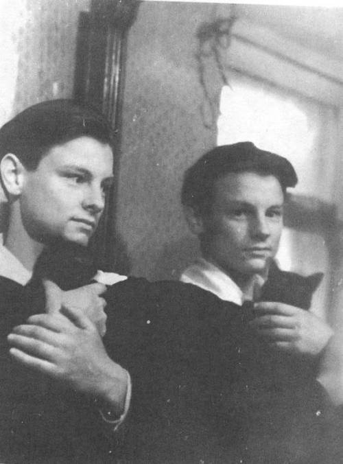 Andrei Tarkovsky on his 16th birthday with a cat.