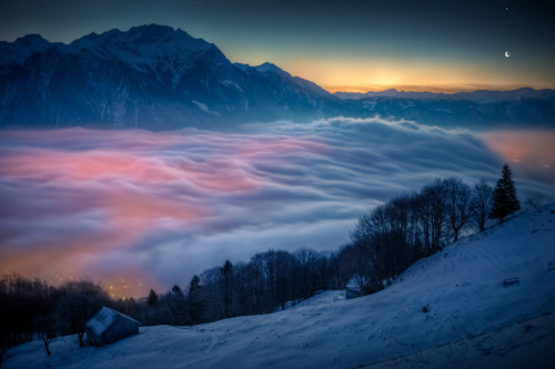 n-a-s-a:  Moon and Venus Over Switzerland  Credit & Copyright: David Kaplan