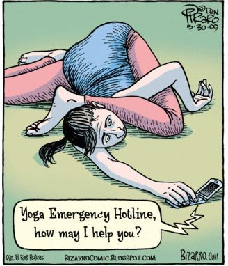 dailycupofyoga:  Have you ever had to dial the yoga emergency hotline?