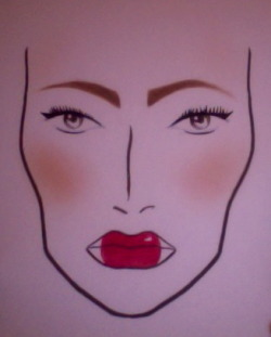did my first face chart :)