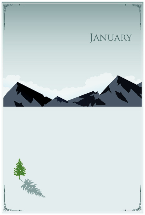 January Poster 1 of 12 of The Months of the Year Series