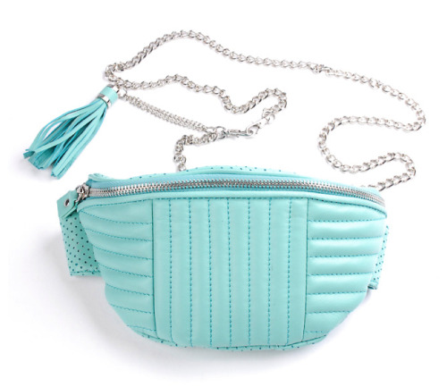 I need this mint leather fanny bag.