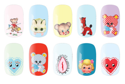 yay! i remember seeing these nail rock for meadham kirchoff nail wraps in the backstage photos for spring 2012, but hadn't heard anything about whether or not they would be available for purchase. but according to refinery29, they'll be available at nordstrom in february! totally getting these even though i'll have to explain the vagina to anyone who asks…
