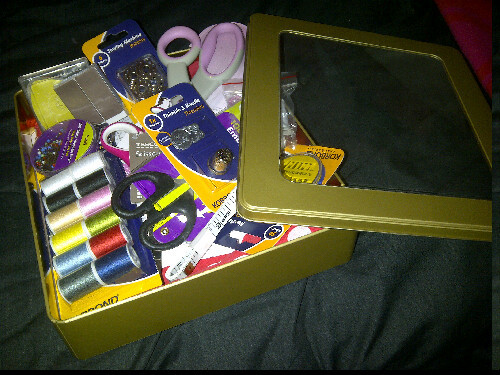 My dressmaking kit.