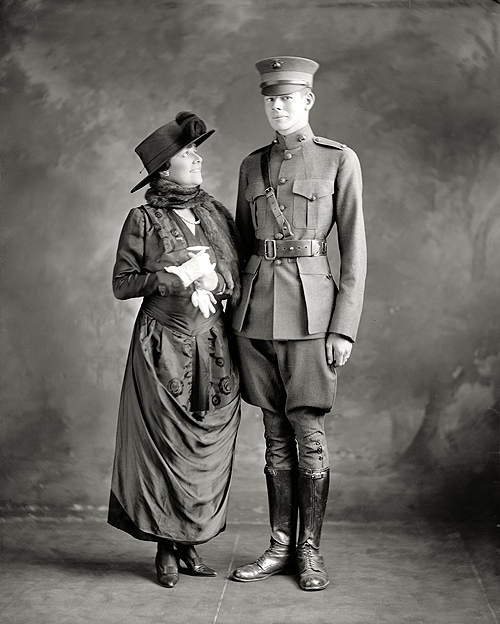 Washington, D.C., circa 1916. Mrs. George Barnett and son.