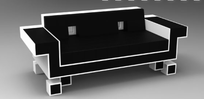Retro Alien Couch AKA Space Invaders Couch by Igor Chak An instant conversation starter, this unique retro gaming inspired couch will be the highlight of any room. Designed and manufactured in Los Angeles, California; to insure the highest build quality. It features and all fine leather pixelated retro design, a low profile, and memory foam cushions. This is a limited production and will only be available for a short time.  $5000.00 Via IgorChak