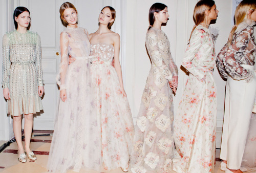 Valentino S/S 2012 HC backstage (via Vogue)