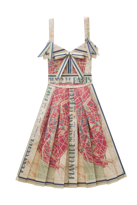 organizedxxmess:  Dresses made from vintage maps!