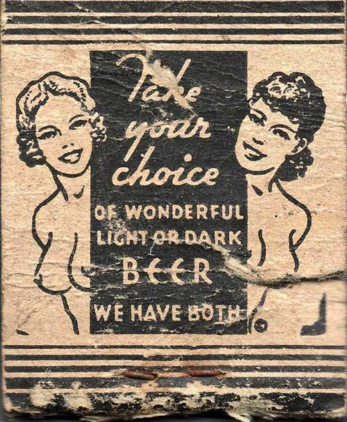msbehavoyeur:  Light or Dark, your choice ~ detail of match cover.  via
