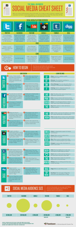 The Small Business Social Media Cheat Sheet / Flowtown (@flowtown) [INFOGRAPHIC]