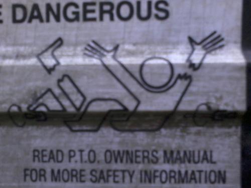 LOL my work truck has quite an interesting warning label XD