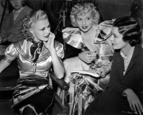 Ginger Rogers, Lucille Ball and Harriet Hilliard during the filming of Follow the Fleet (1936) Image Source: Flickr