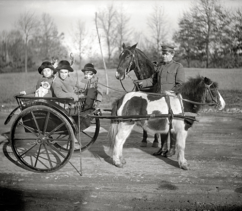 Washington, D.C., circa 1917. Capt. Warren W. Whiteside, 10th Cavalry.