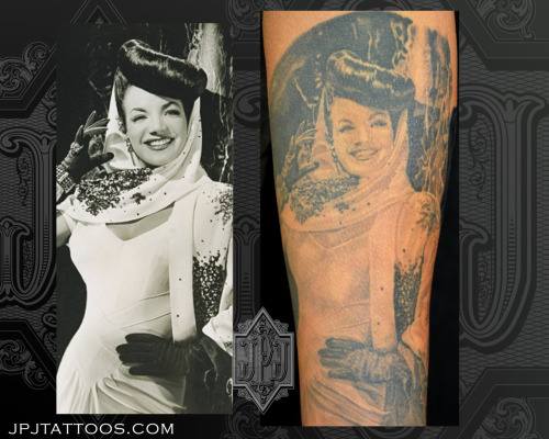 Carmen Miranda Artist: Jose Perez Jr. Dark Water Tattoos, Bridgeview, IL.