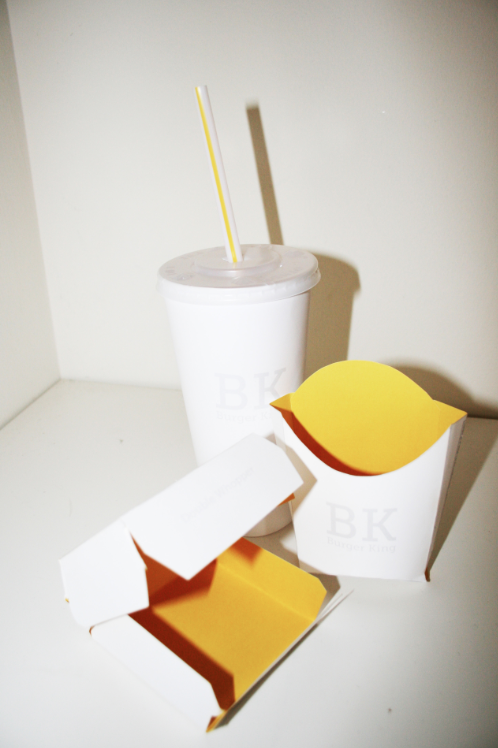 Burger King (2011) Redesigning the packaging from Burger King, moving from an overloaded-full of color-fattening brand to what it could be a clean, simple, elegant design. New York, US