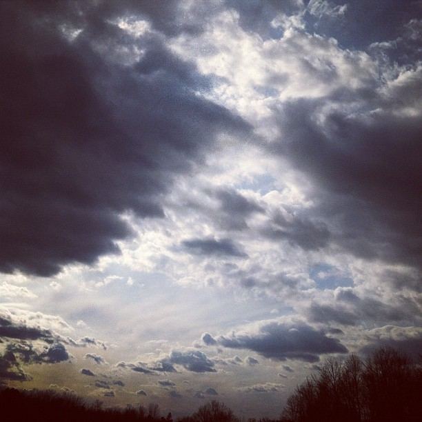 #love #clouds#perfect Sunday with @madipatty9  (Taken with instagram)