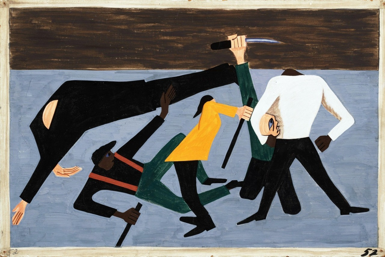 East St. Louis by Jacob Lawrence