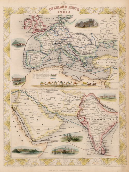 John Tallis, 1851, Overland Route to India