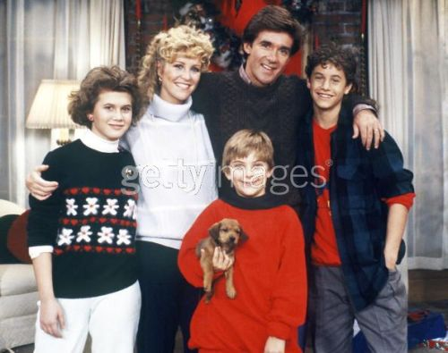 Growing Pains cast in Christmas 1985.