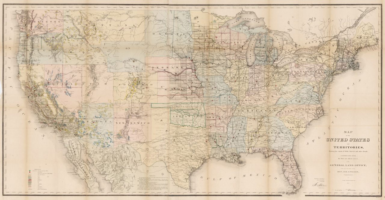 U.S. General Land Office, 1867, U.S.A. & Territories