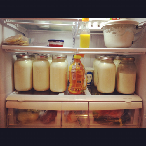 3 extra boys this week. 10 gallons of milk (2 more Tuesday). 8 pack of Coke. I think I'll be ok;)