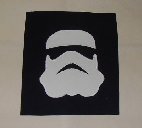 made a new stormtrooper patch.  here's the link: http://www.etsy.com/listing/91916532/stormtrooper-patch-large-sew-on-or-iron