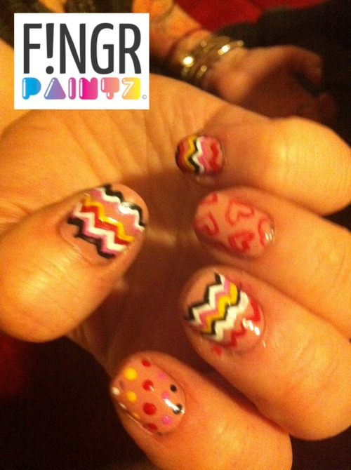 Did my friends nailssss, wanted to try out the Missoni print :) xxo Laur