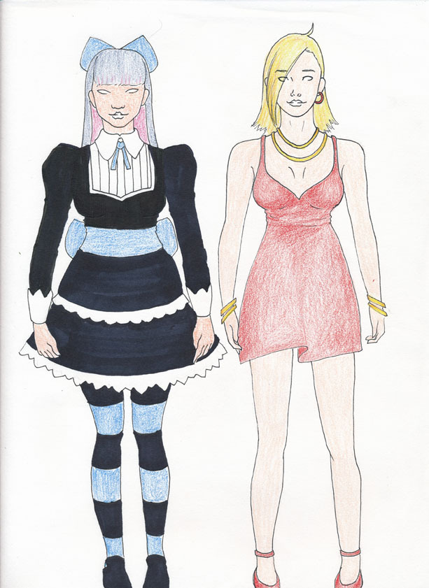 Some cosplay ideas, Panty and Stocking!