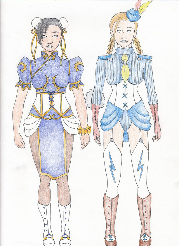 More cosplay, Chun-li and Cami from Streetfights, steampunk style!