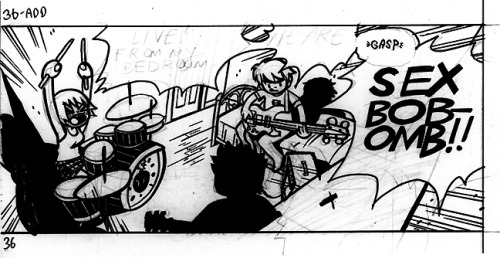 radiomaru:  Panel from Scott Pilgrim Vs The Universe (Vol 5)  Pencil and brush & ink, 2008  #archives