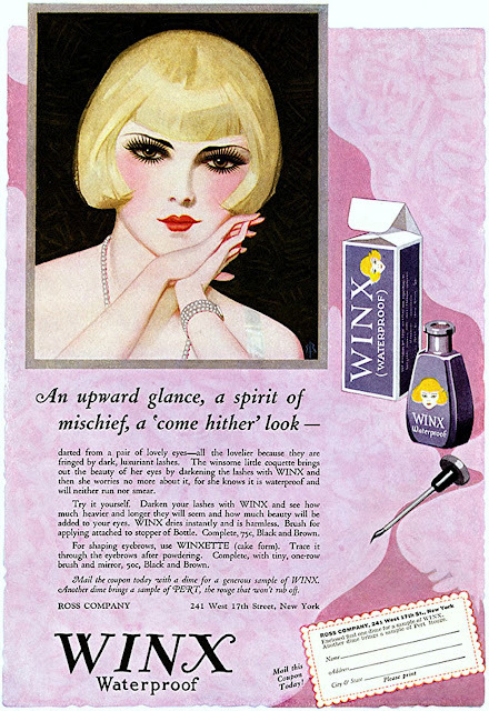 1925 advertisement for WINX lash darkener, illustrated by Enoch Bolles (via Enoch Bolles)