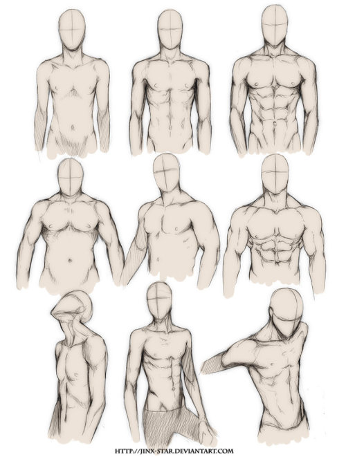 youngartist-city:  Different Male Bodies.